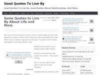Quotes-to-live-by.org