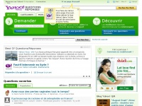 Accueil | Yahoo Answers