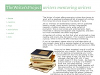 Thewritersproject.co.uk