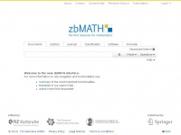 zbMATH - the first resource for mathematics
