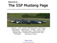 Welcome to the SSP Mustang Page!