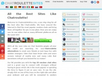 Chatroulettesites.com - ChatrouletteSites: Top 20 Sites Like Chatroulette in One Place