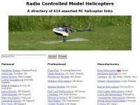 Radio Controlled Model Helicopters