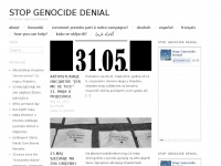Stopgenocidedenial.org - Stop Genocide Denial | for victims' right to remember