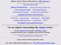 Mike's Atmos Clock Clinic's Swiss Jaeger LeCoultre Atmos Clock service and repair and