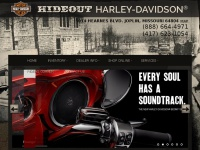 Hideout Harley-Davidson® Dealership in Joplin, Missouri, carries a large selection of quality New and Pre-Owned Harley-Davidson® motorcycles, parts, accessories and offers Harley® maintenance