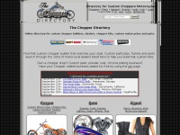 The Chopper Directory - Find custom chopper builders and custom motorcycle dealers in your area.