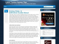 Cyber Casino Games Tips