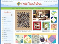 CraftTownFabrics provides all your quilt making needs from fabrics, patterns, kits and quilting classes.