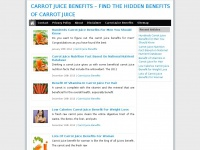 Carrotjuicebenefits.net