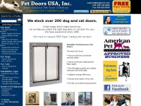 Pet Doors USA - Quality Pet Doors , Dog Doors, Cat Doors, Large, Electronic, Window, Patio, Wall, Replacement Dog doors