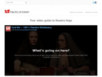 Theatredictionary.org