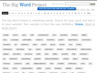 The Big Word Project - Viral marketing campaign to redefine the dictionary