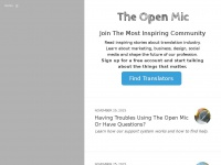 Theopenmic.co