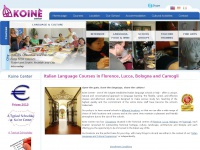 Koine Center - Italian Language School - Lucca Florence Bologna Camogli - Italian Classes in Tuscany