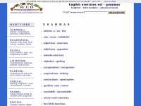Agendaweb.org - English exercises - grammar exercises - learn English online