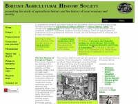 British Agricultural History Society - for the study of rural history, countryside history and landscape history