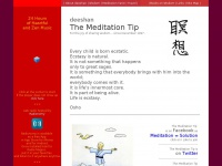 Deeshan.com - The Meditation Tip. Daily Wisdom