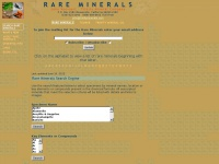 Rare Minerals and rare mineral species - Trinity Mineral Company