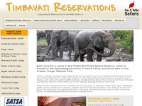 timbavatireservations.co.za