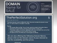 theperfectsolution.org