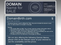 domainbirth.com
