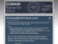 antiquebookvalue.com